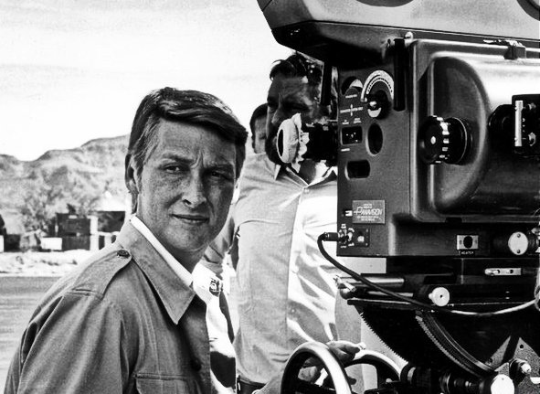 FILM DIRECTOR Mike Nichols [ behind camera]